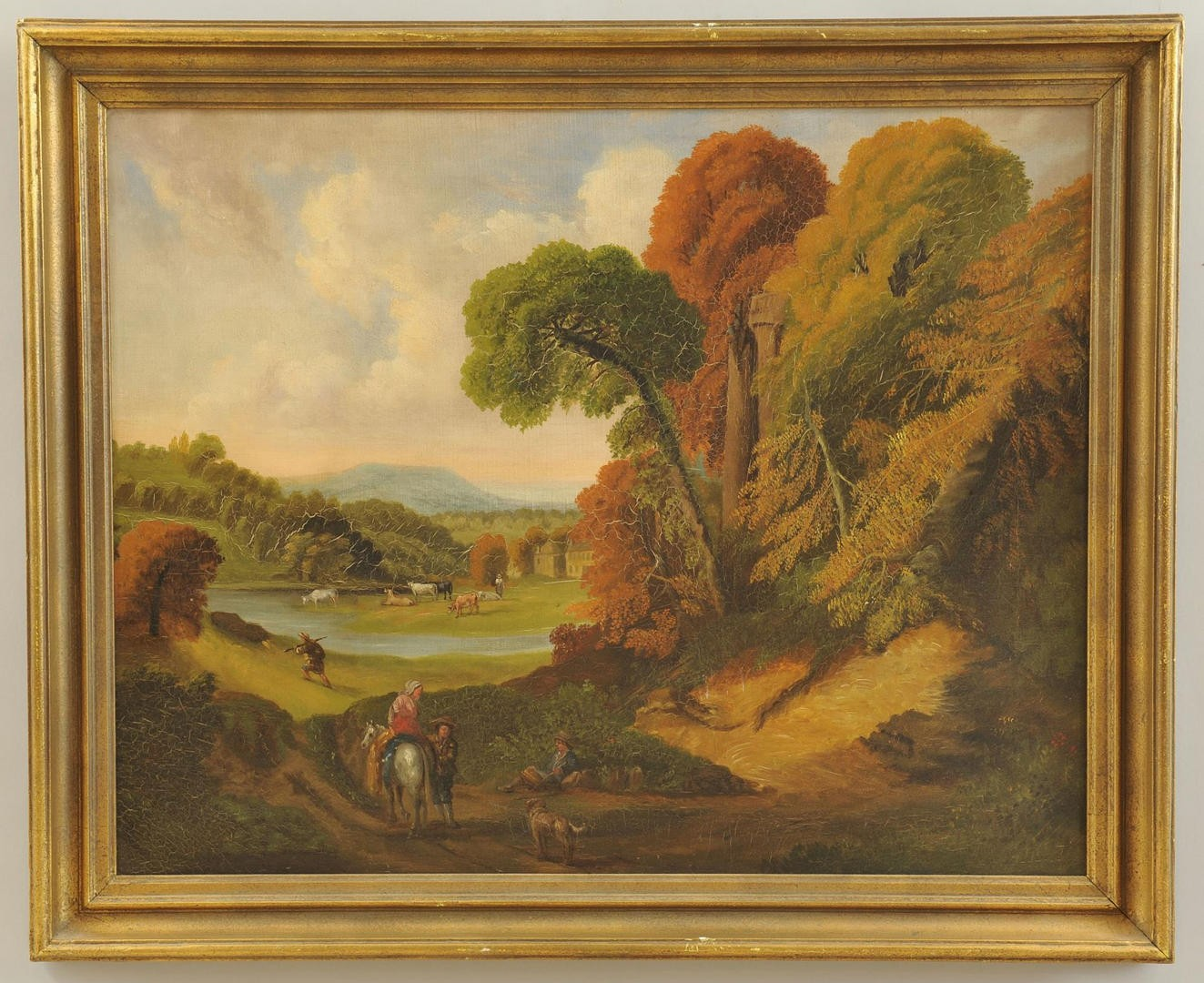 Lot 545: 19th Century Continental Landscape Oil
