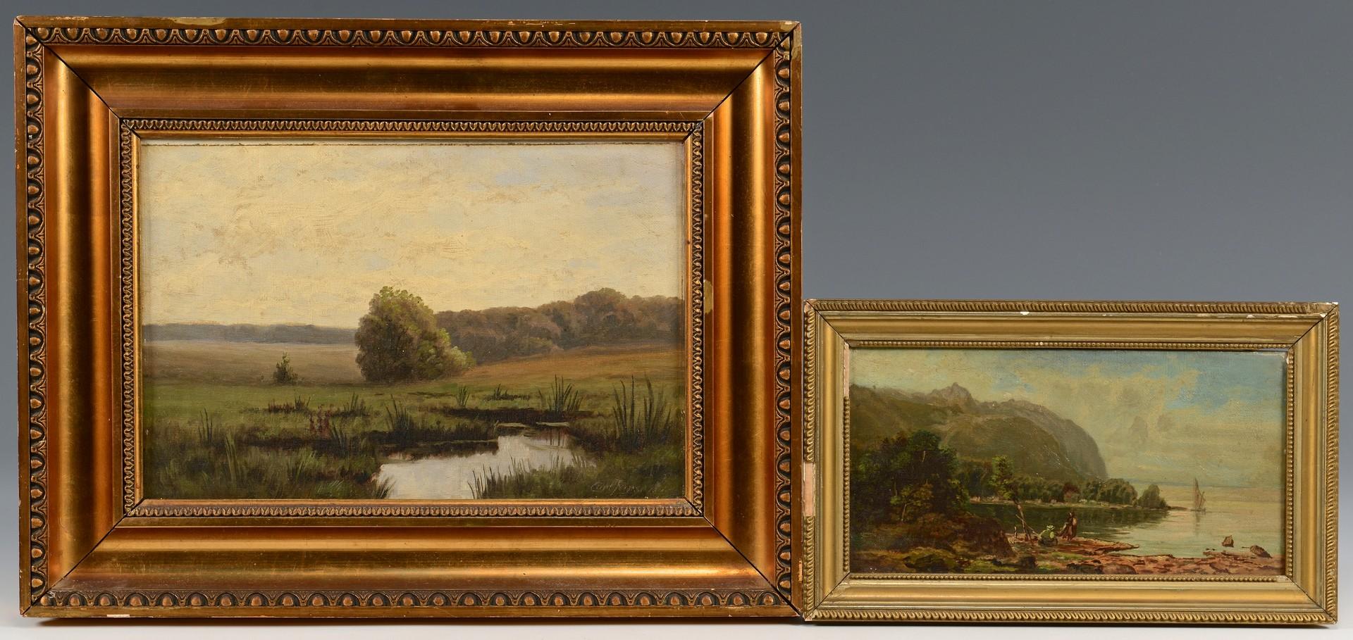 Lot 546: 2 European Landscape Oils