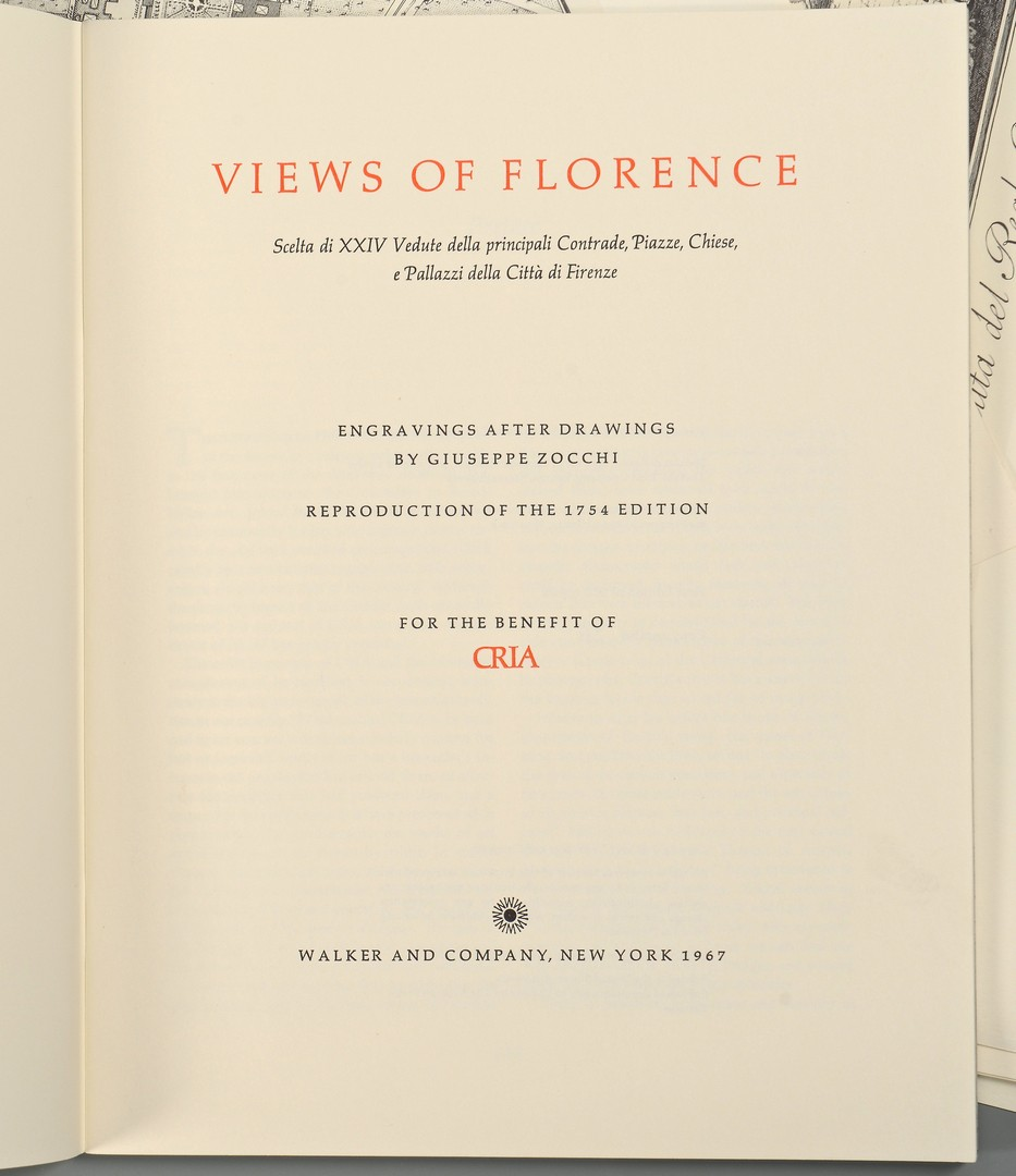 Lot 549: Zocchi Views of Florence