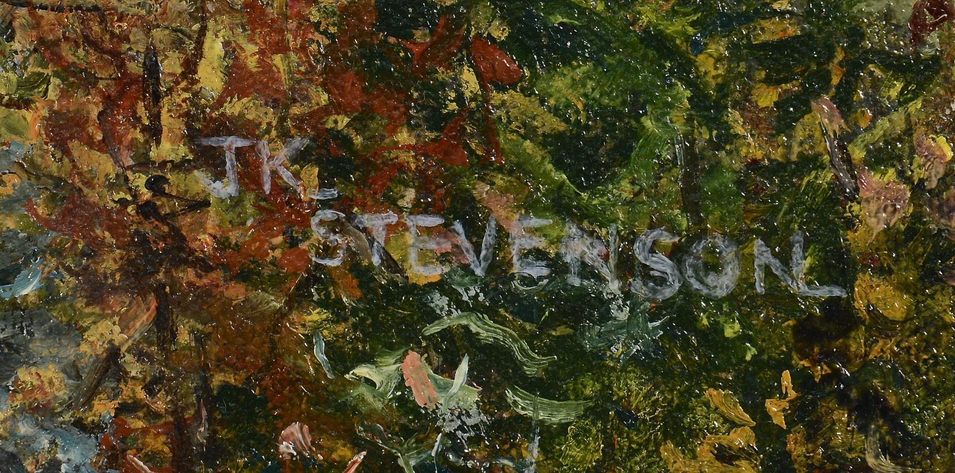 Lot 555: Fall Mountain Landscape, J.K. Stevenson