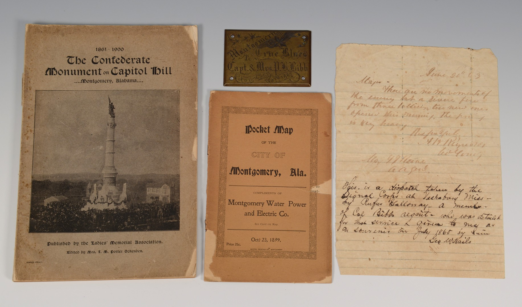 Lot 560: Bibb family archives & coverlet, Alabama