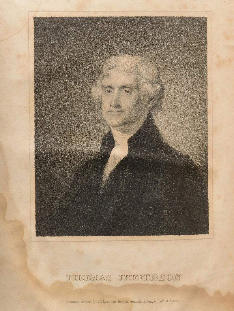 Lot 562: 1829 Jefferson's Correspondence, Charlottesville. 4 Vols.