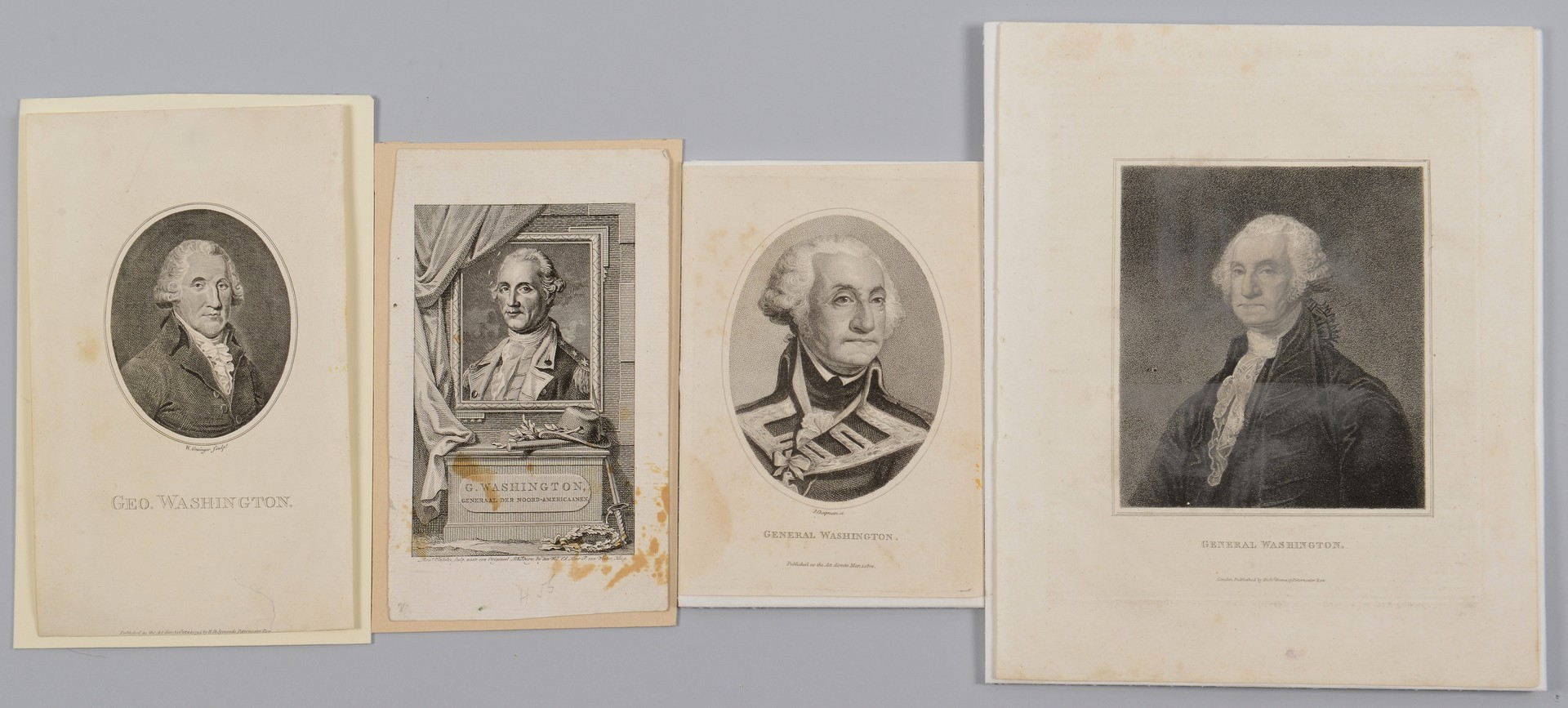 Lot 563: 4 George Washington Engraved Portraits