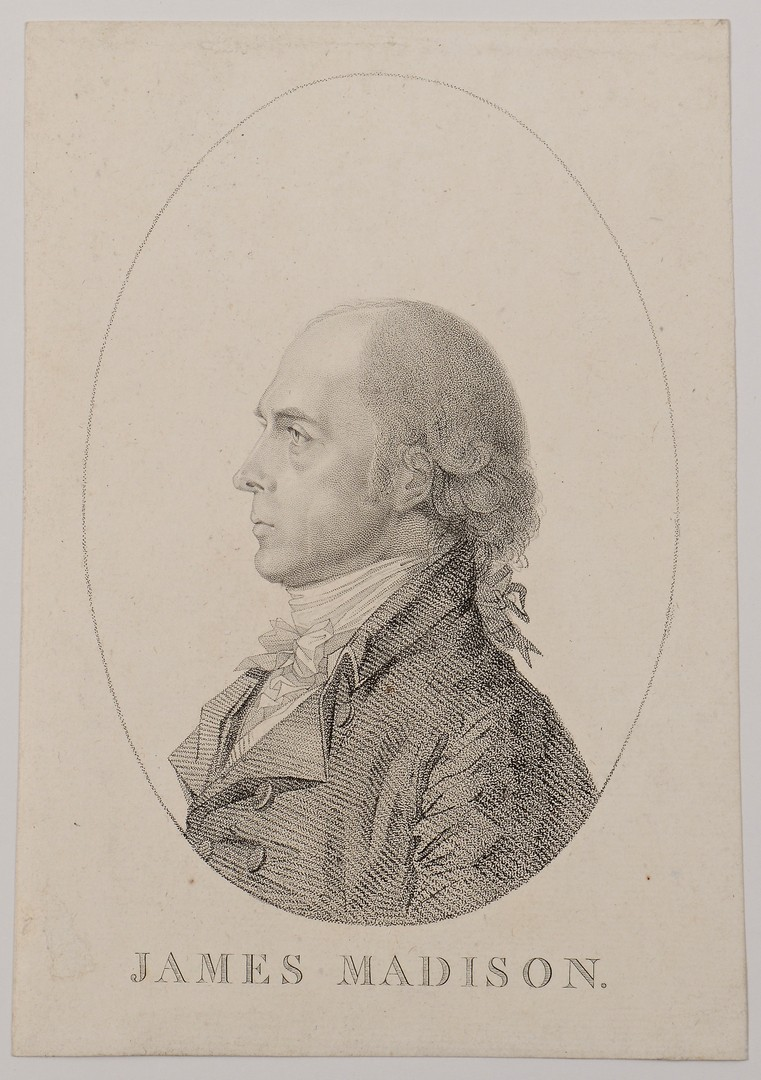 Lot 567: Rare James Madison Engraving
