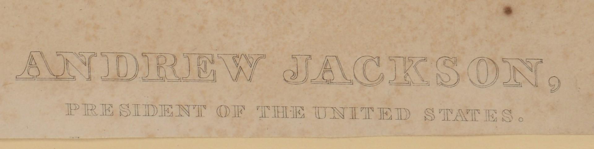 Lot 568: Rare Andrew Jackson Engraving