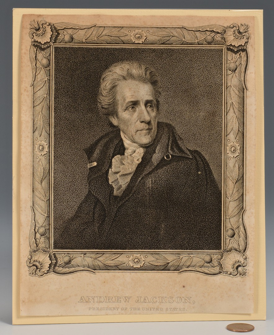 Lot 568: Rare Andrew Jackson Engraving