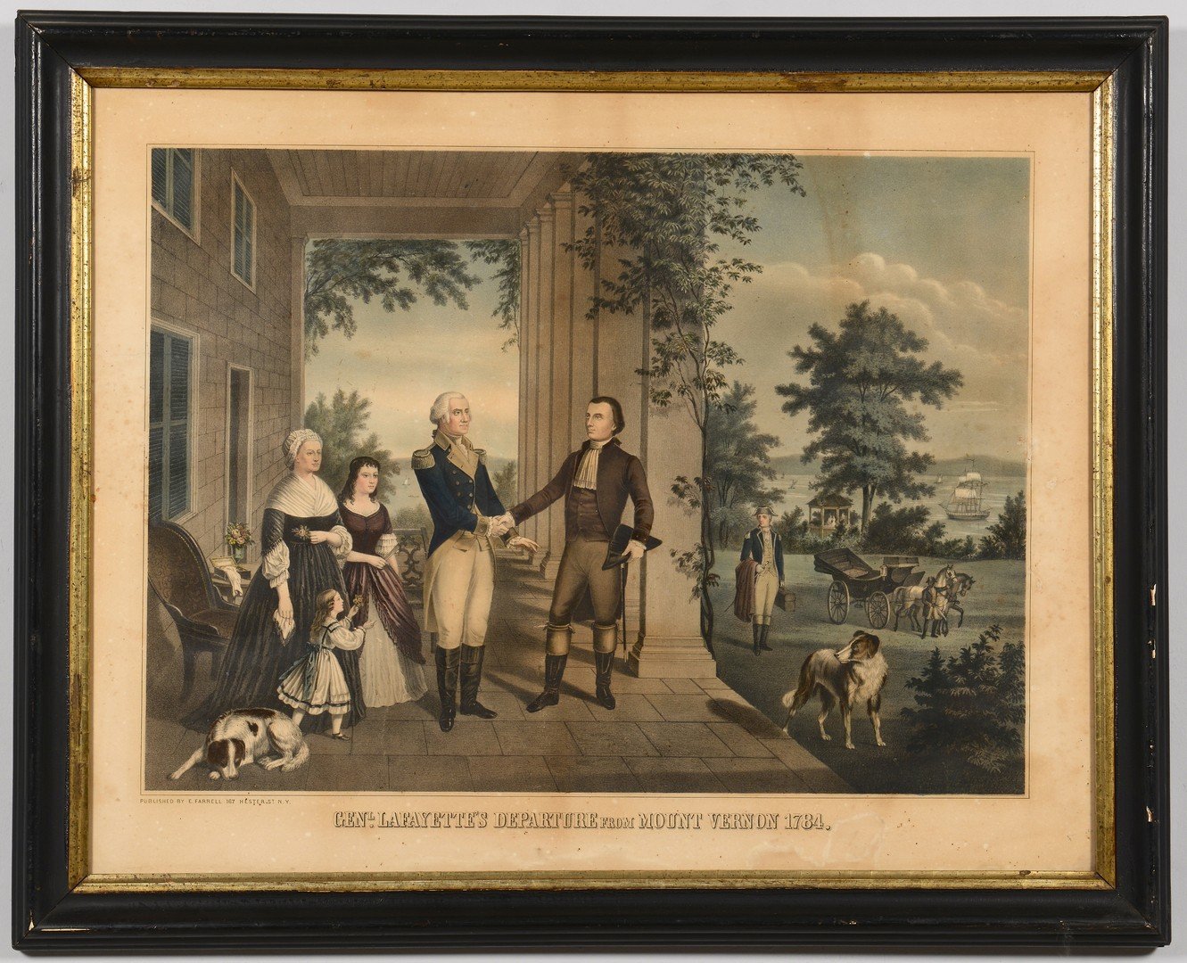 Lot 569: Lafayette and Native American Prints