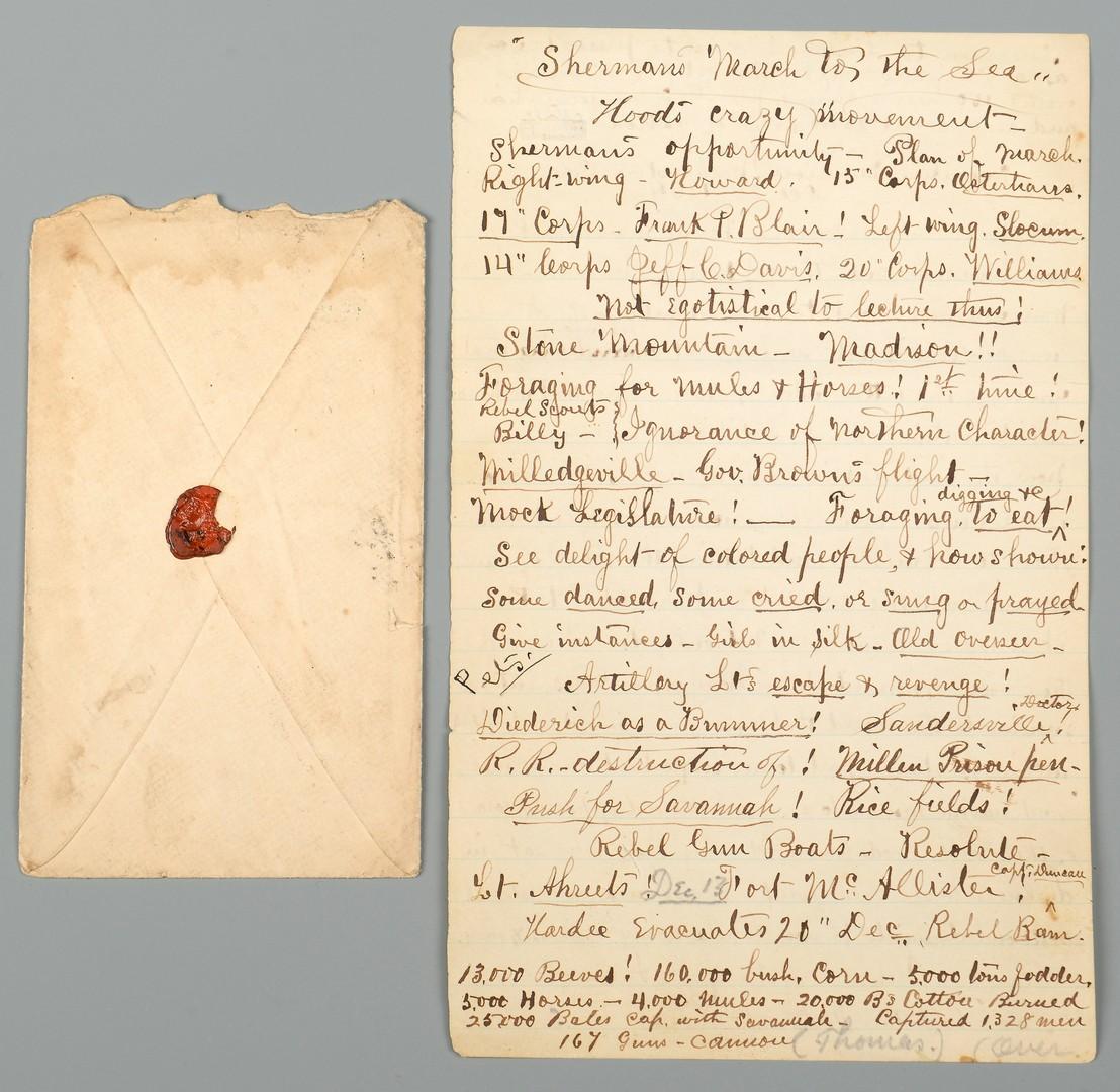 Lot 571: Civil War Letter, Sherman Related