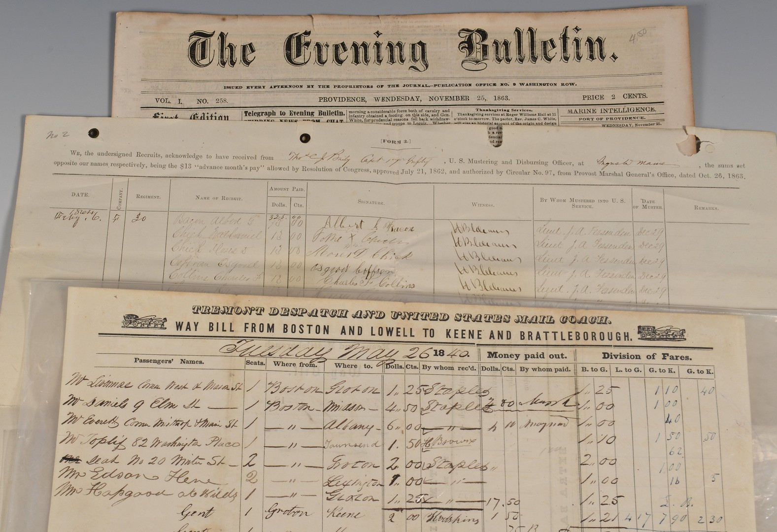 Lot 573: Civil War and Related Documents