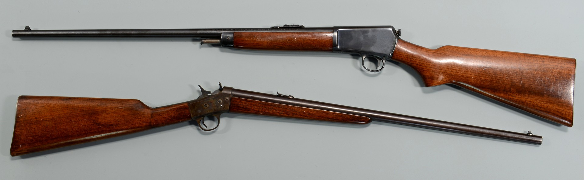 Lot 578: 2 rifles, .25 Remington & .22 Winchester