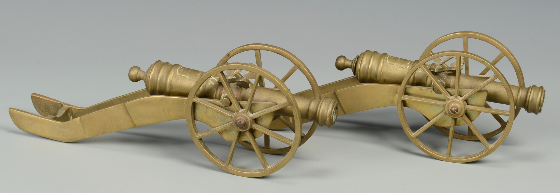 Lot 579: Group of 7 miniature cannons