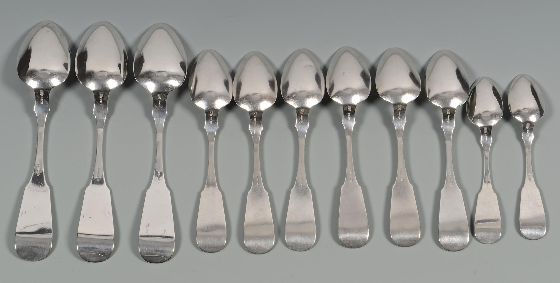 Lot 57: 11 Sehorn TN Coin Silver Spoons