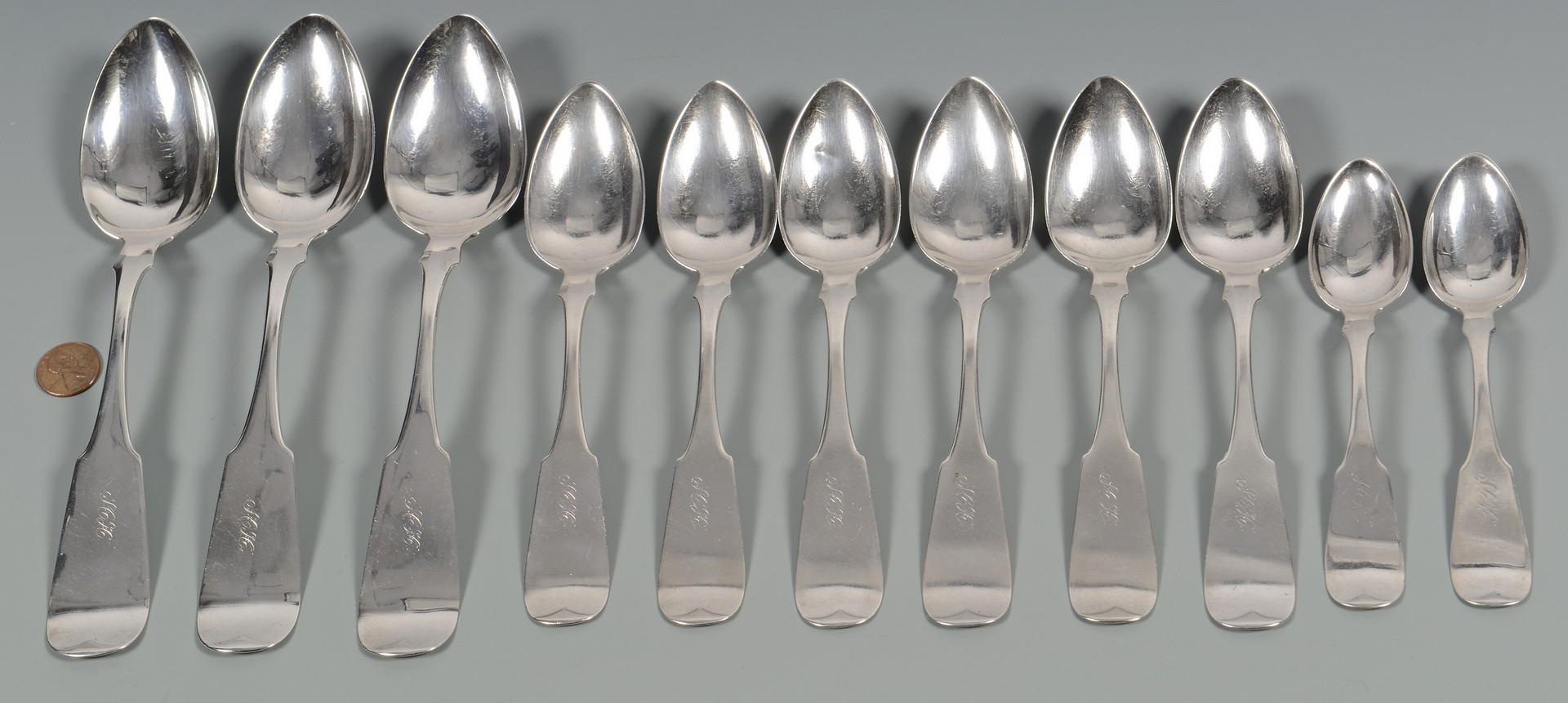 Lot 57: 11 Sehorn TN Coin Silver Spoons