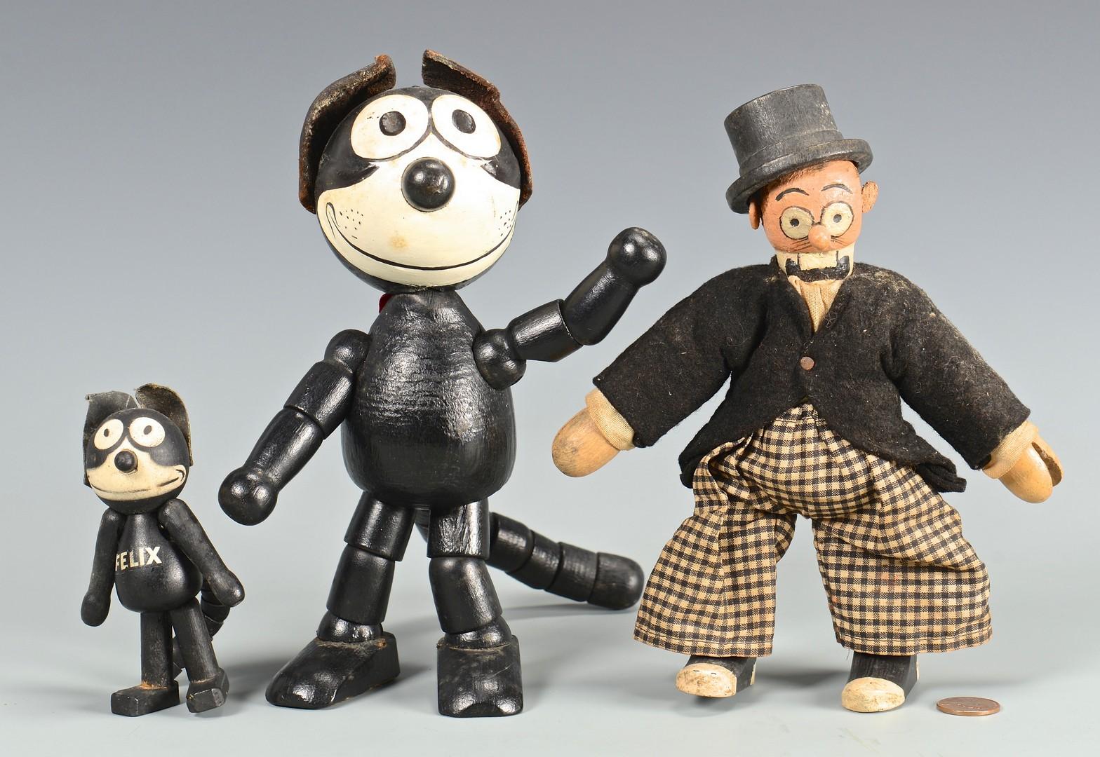 Lot 582: Group of Schoenhut Wooden Doll Figures, 3 total
