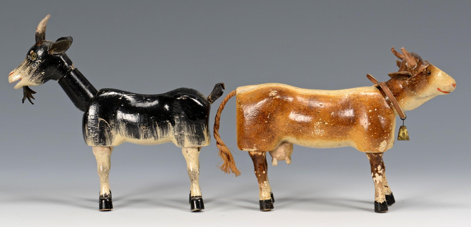 Lot 583: Group of  Schoenhut Farm Figures & Animals, 9 pcs.