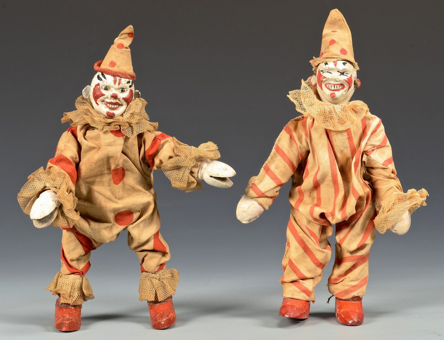 Lot 584: Group of Schoenhut Circus Figures & Animals, 9 pcs.