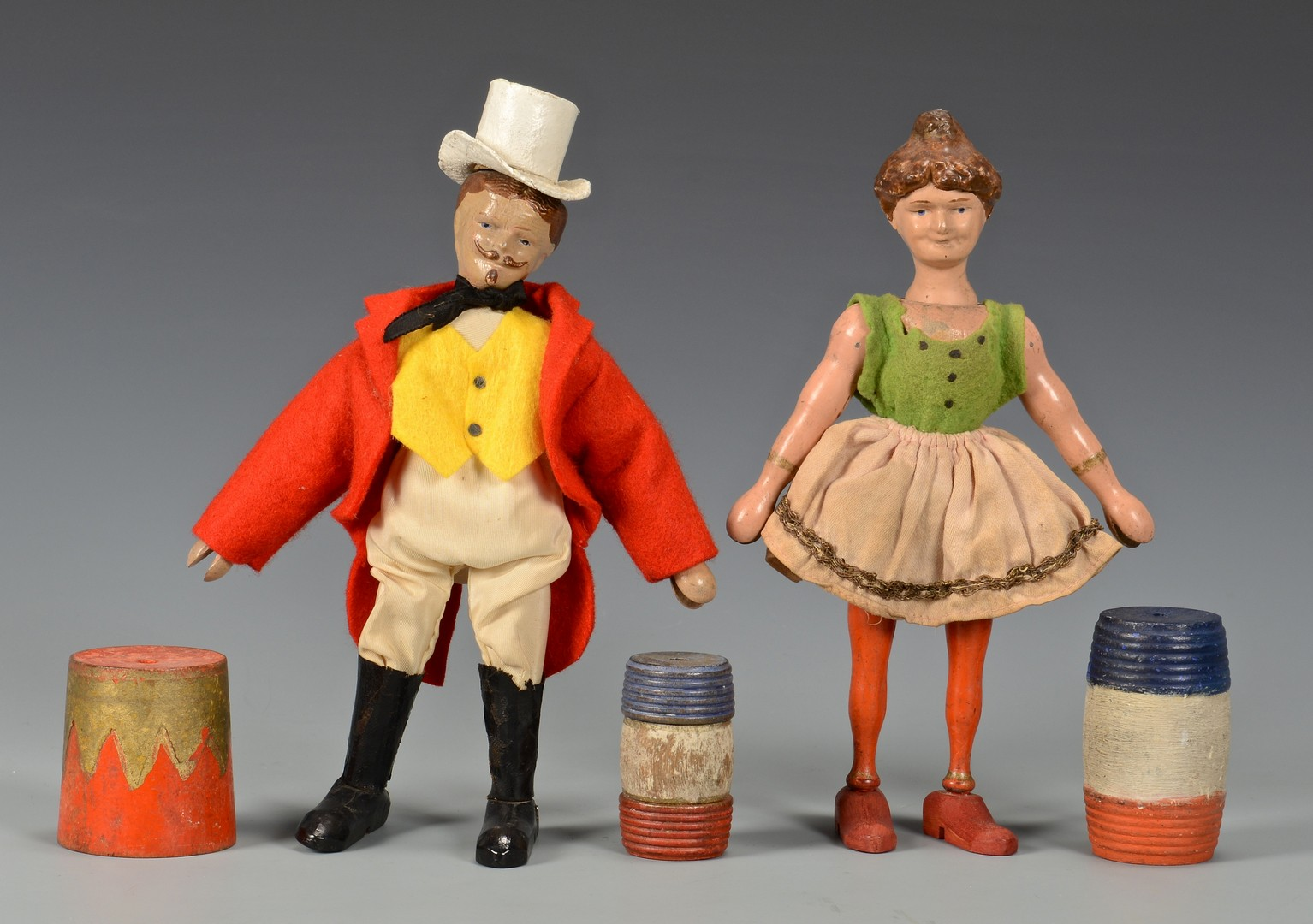 Lot 585: Schoenhut Circus Figures, Animals, & Access., 14 pcs.