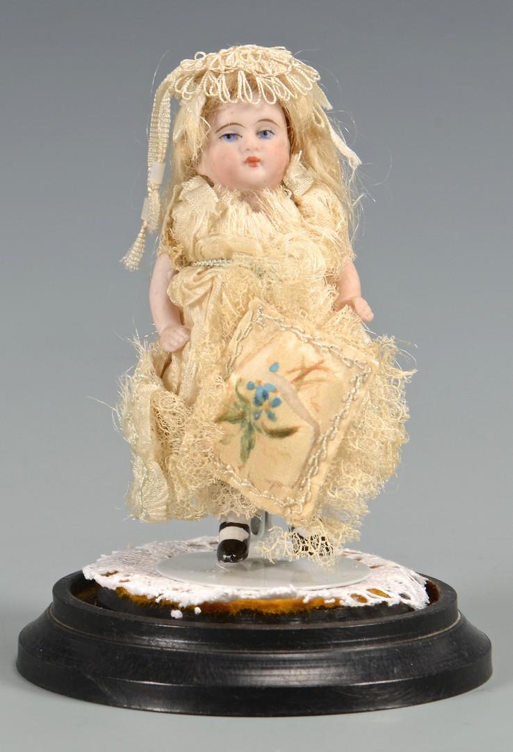 Lot 587: Miniature German Bisque Doll