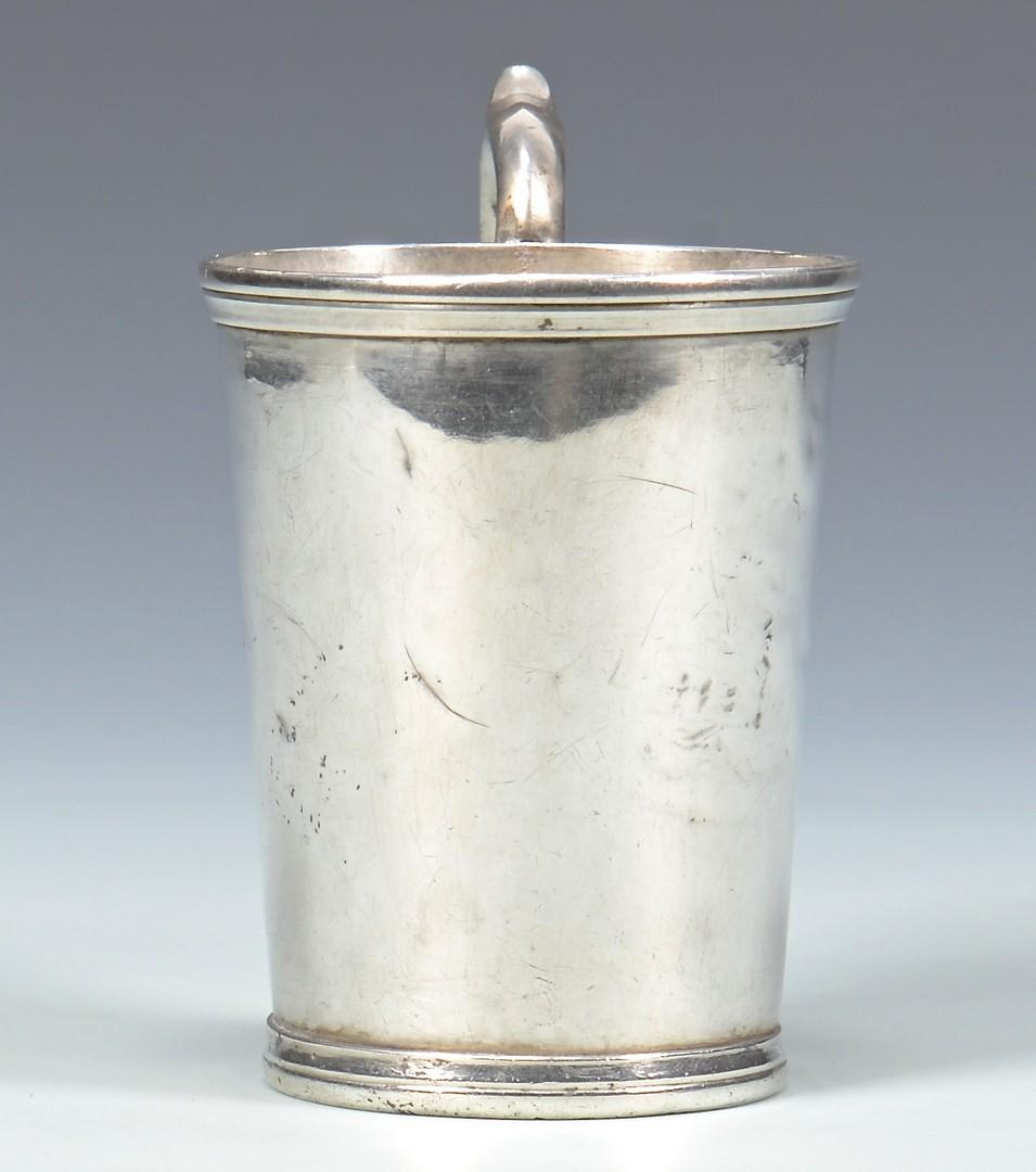 Lot 58: Nashville Coin Silver Mug, J.S. Britton or Britain