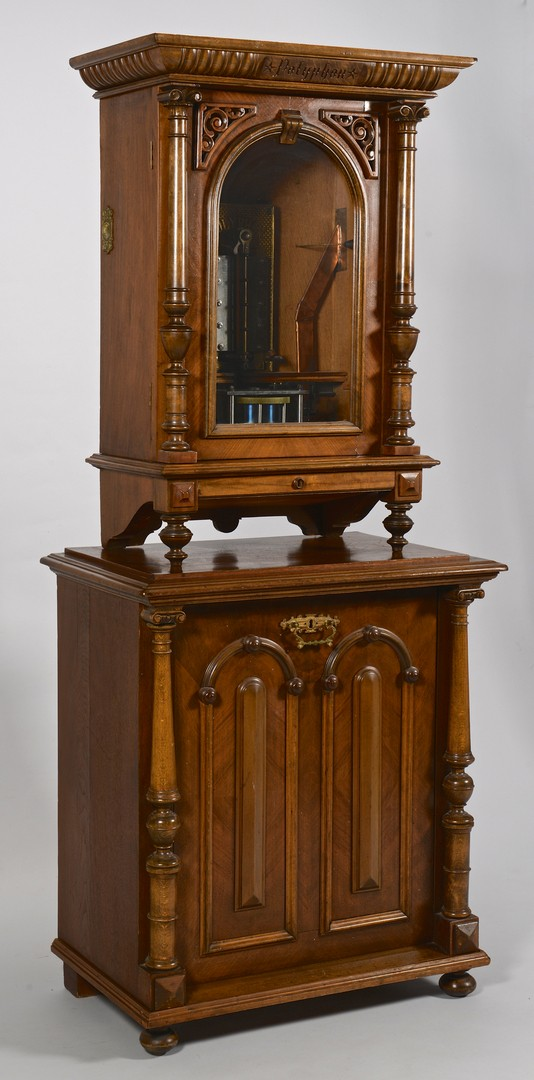 Lot 590: Polyphon Upright Coin-Op Music Box