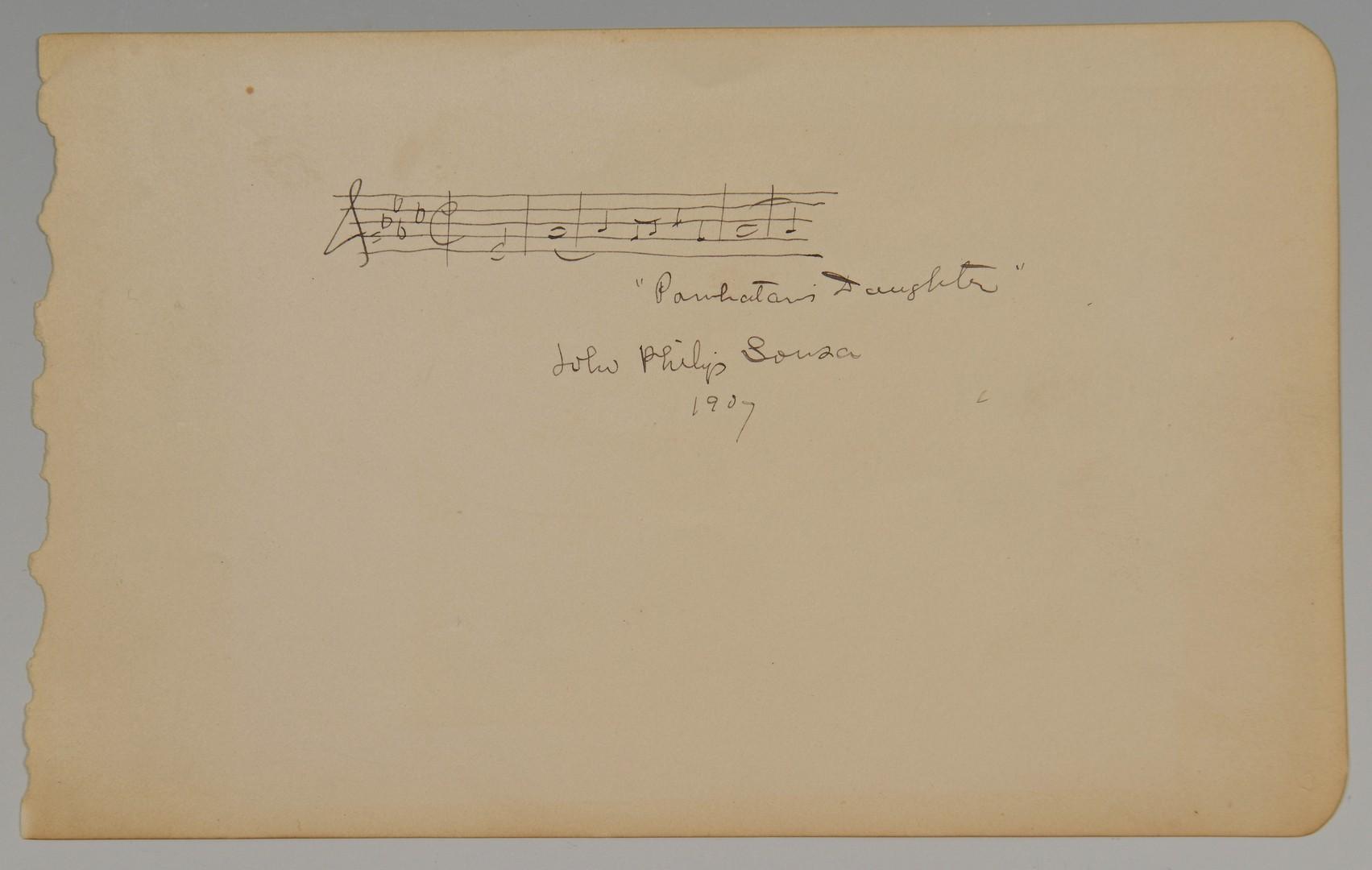 Lot 593: John Philip Sousa Autograph