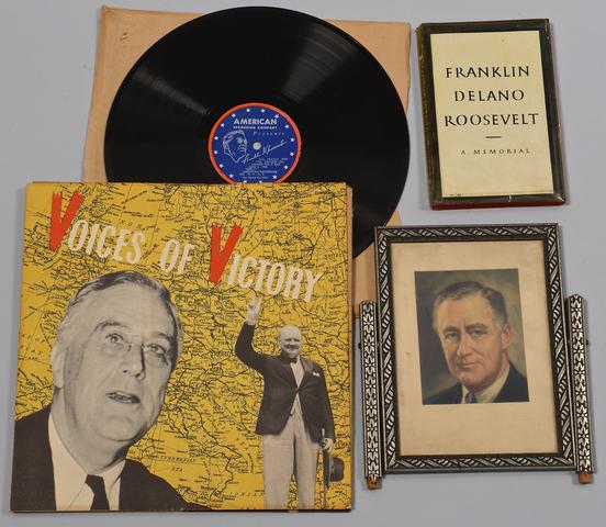 Lot 596: President Franklin D. Roosevelt Ephmera Archive