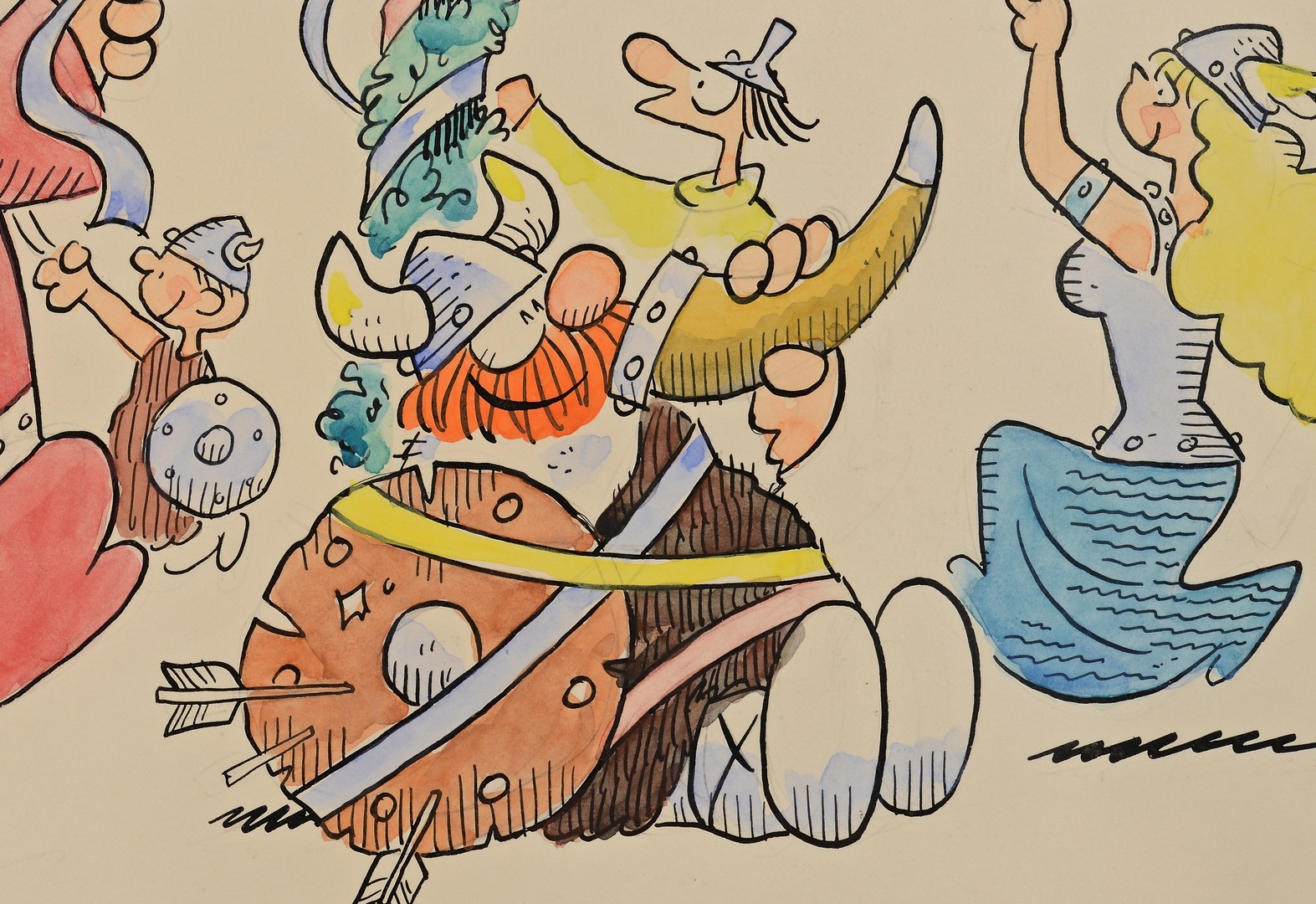 Lot 598: Hagar the Horrible Comic Original Art