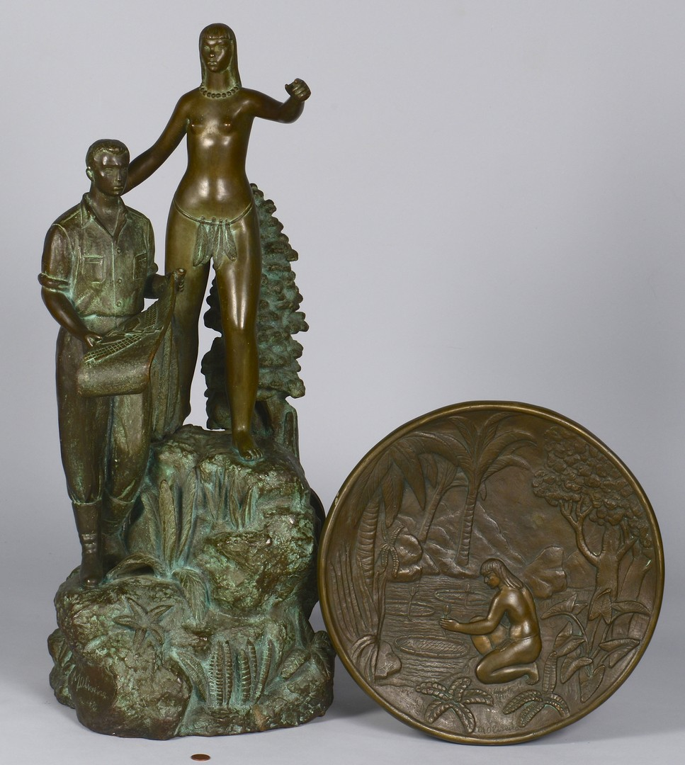 Lot 599: Bronze Trophy & Archive, 1957 World Championship Womens Bball