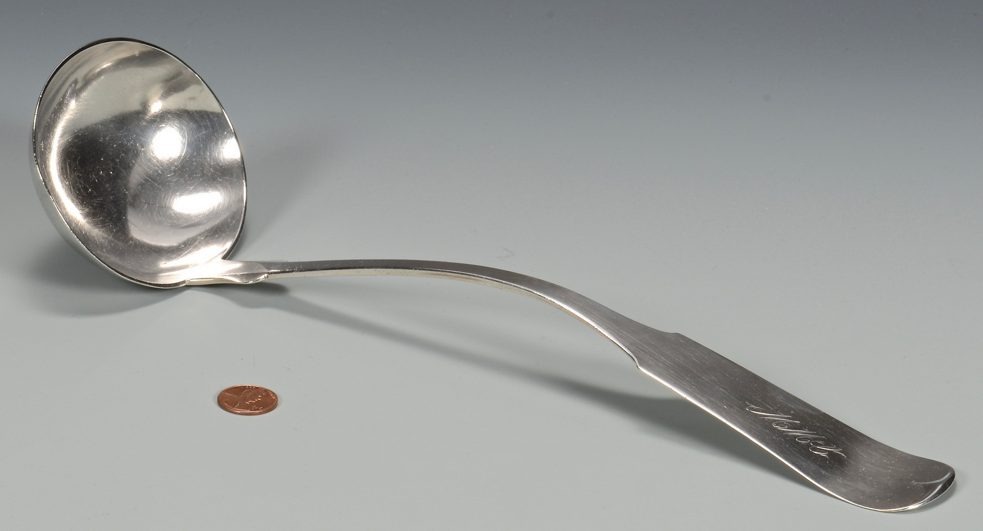 Lot 59: Donigan TN Coin Silver Ladle