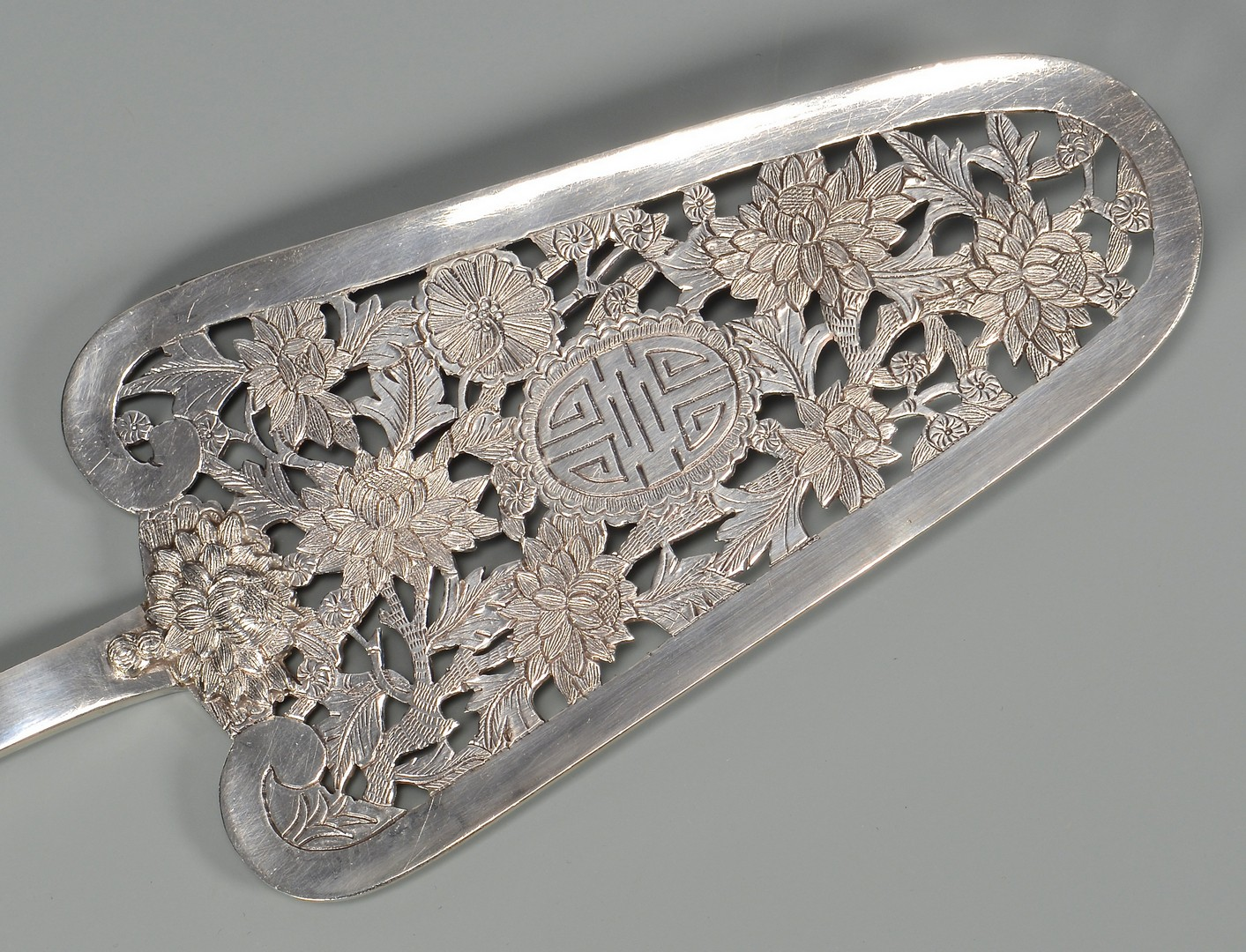 Lot 5: Chinese Export Silver Pastry Server