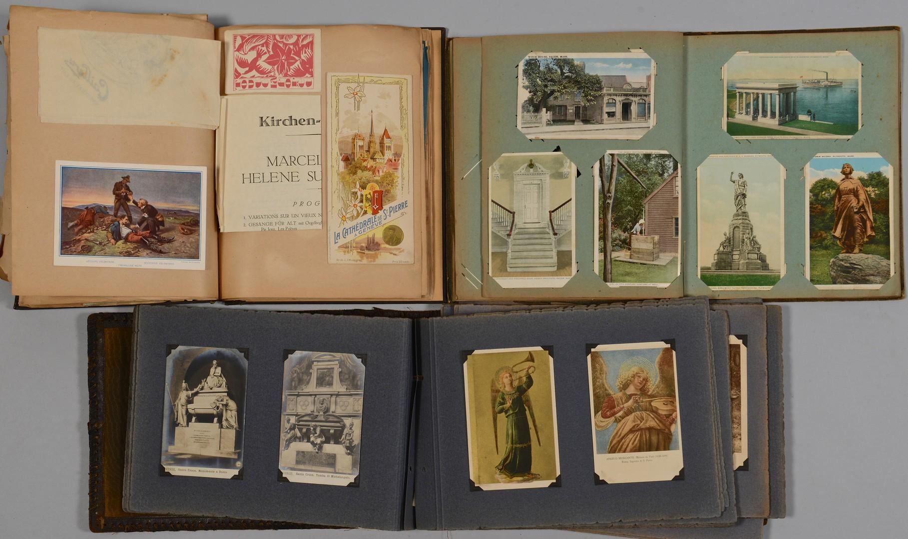 Lot 603: Early 20th C. Postcard, Souvenir Albums