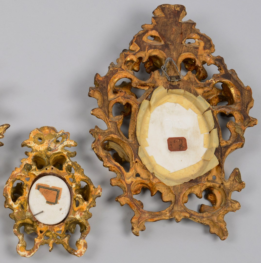 Lot 606: Three Mounted Porcelain Plaques