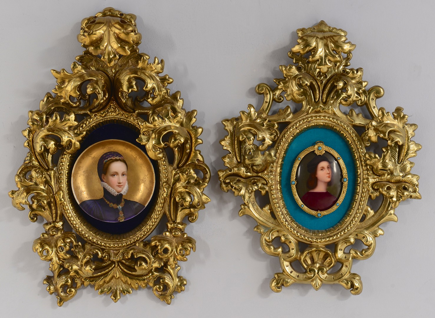 Lot 607: Two Mounted Porcelain Plaques