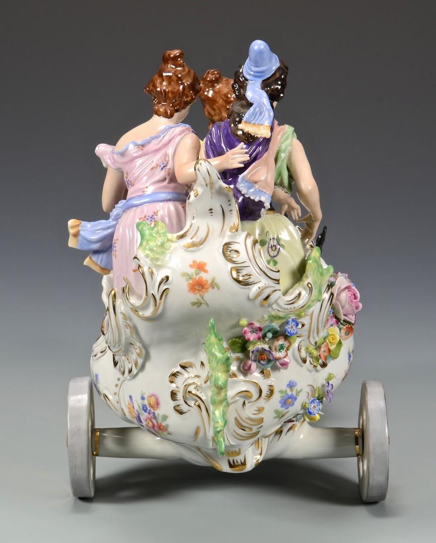 Lot 608: Pair of Porcelain Figurals, Dresden