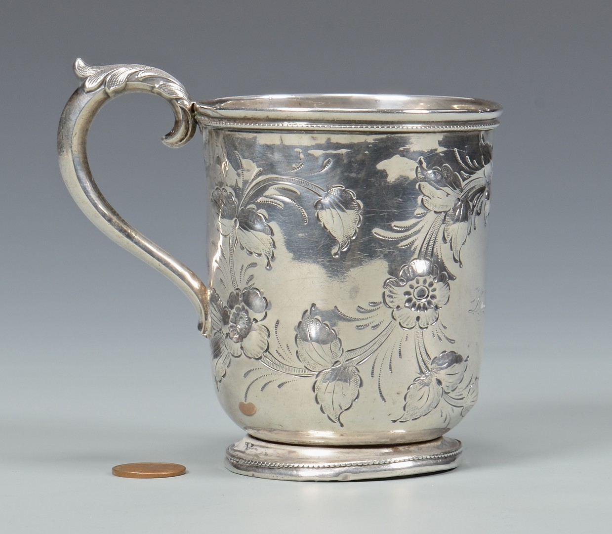 Lot 60: T. Gowdey Nashville Coin Silver Cup