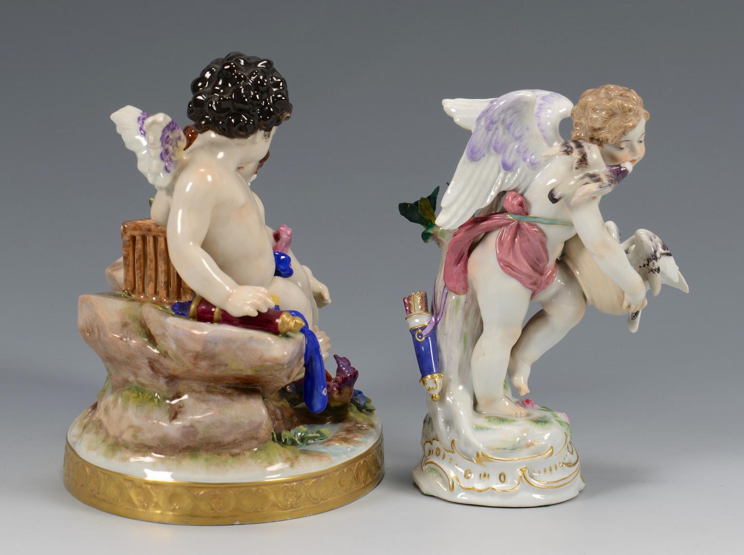 Lot 611: 2 German Porcelain Figurines, incl. Meissen