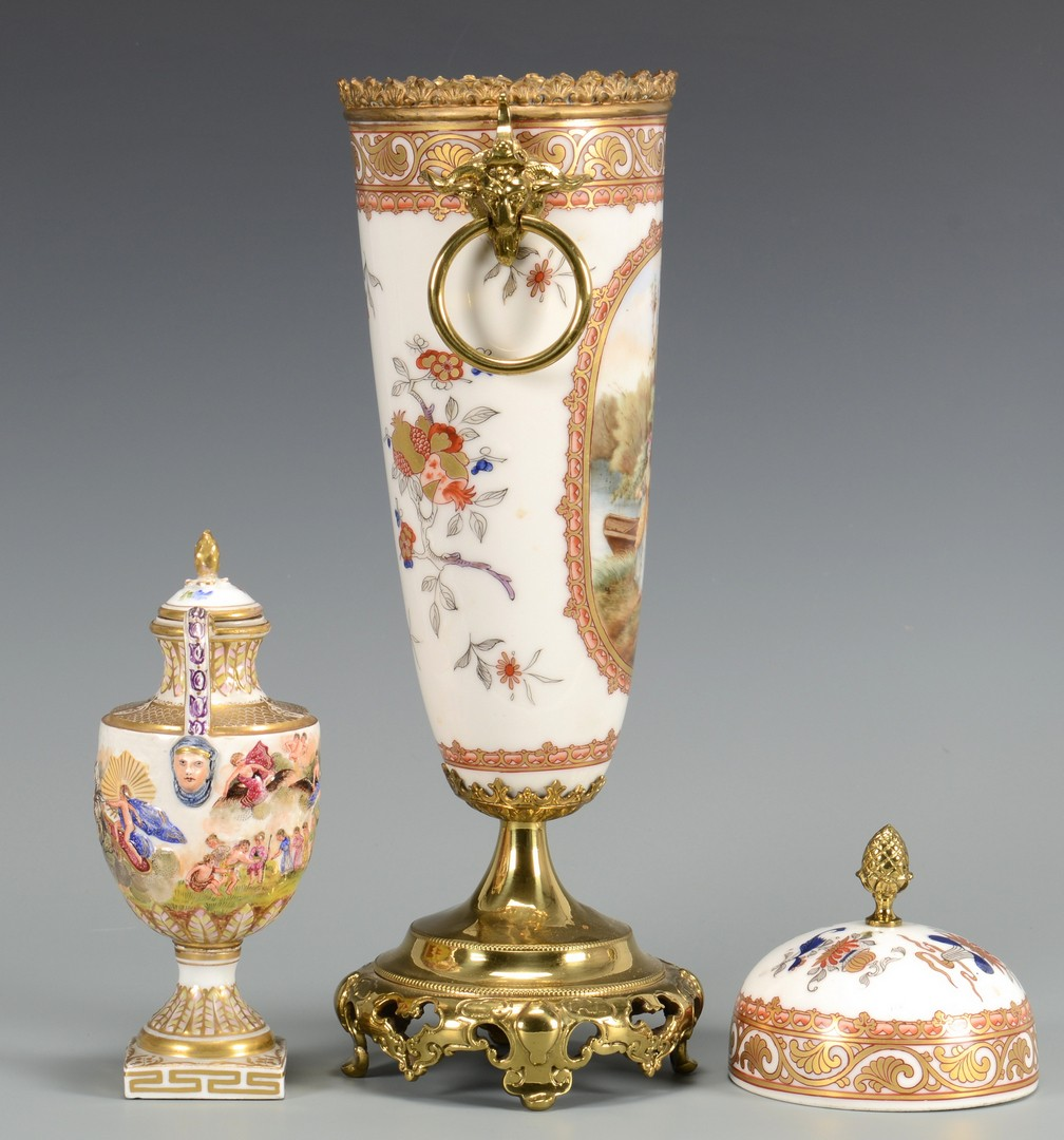 Lot 612: Two European Porcelain Urns