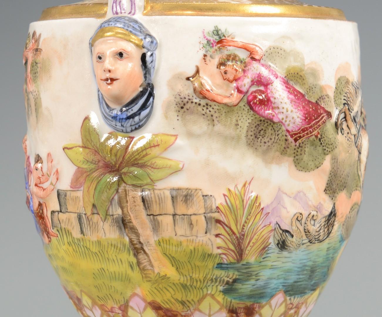 Lot 612: Two European Porcelain Urns
