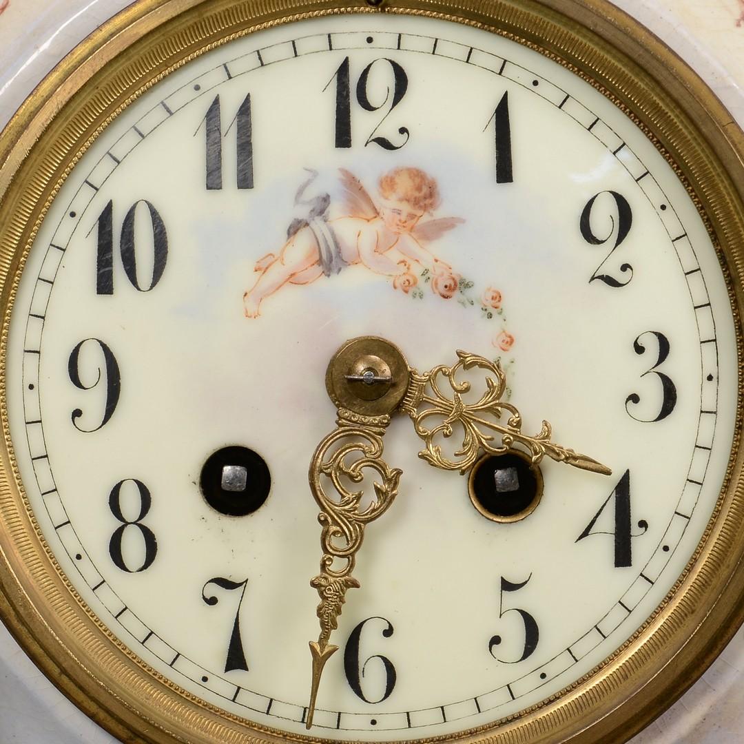Lot 625: 2 French Porcelain Clocks, inc. Old Paris