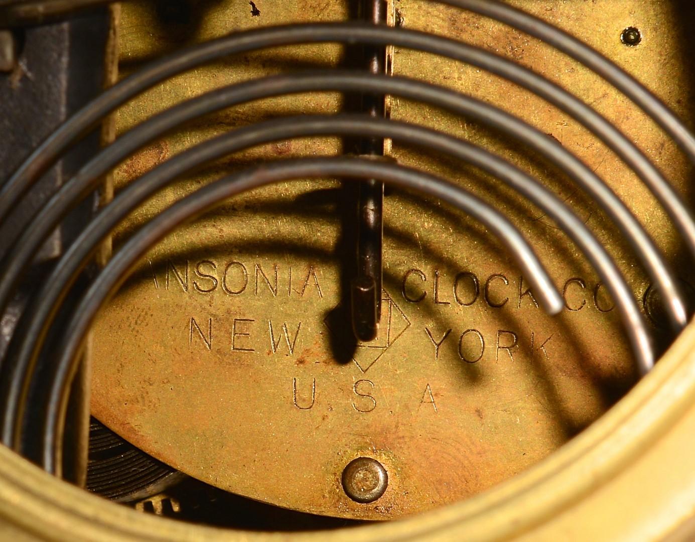 Lot 626: Pair of mantel clocks, Astonia & Royal Bonn