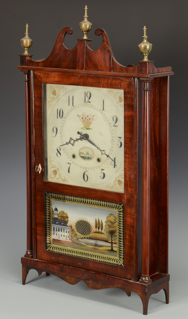 Lot 627 Eli Terry Pillar Amp Scroll Clock W Federal Design