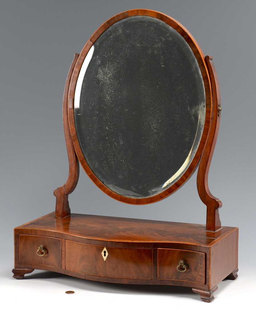 Lot 628: Federal Shaving Mirror