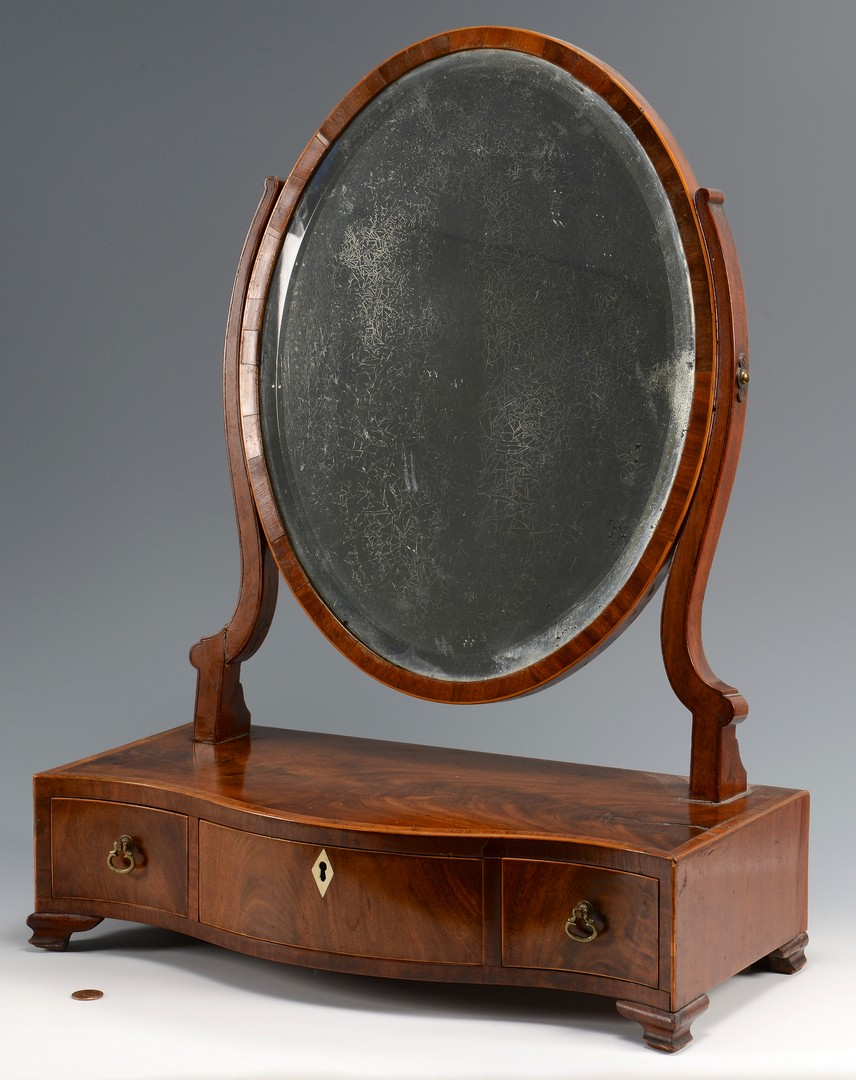 Lot 628: Federal Shaving Mirror