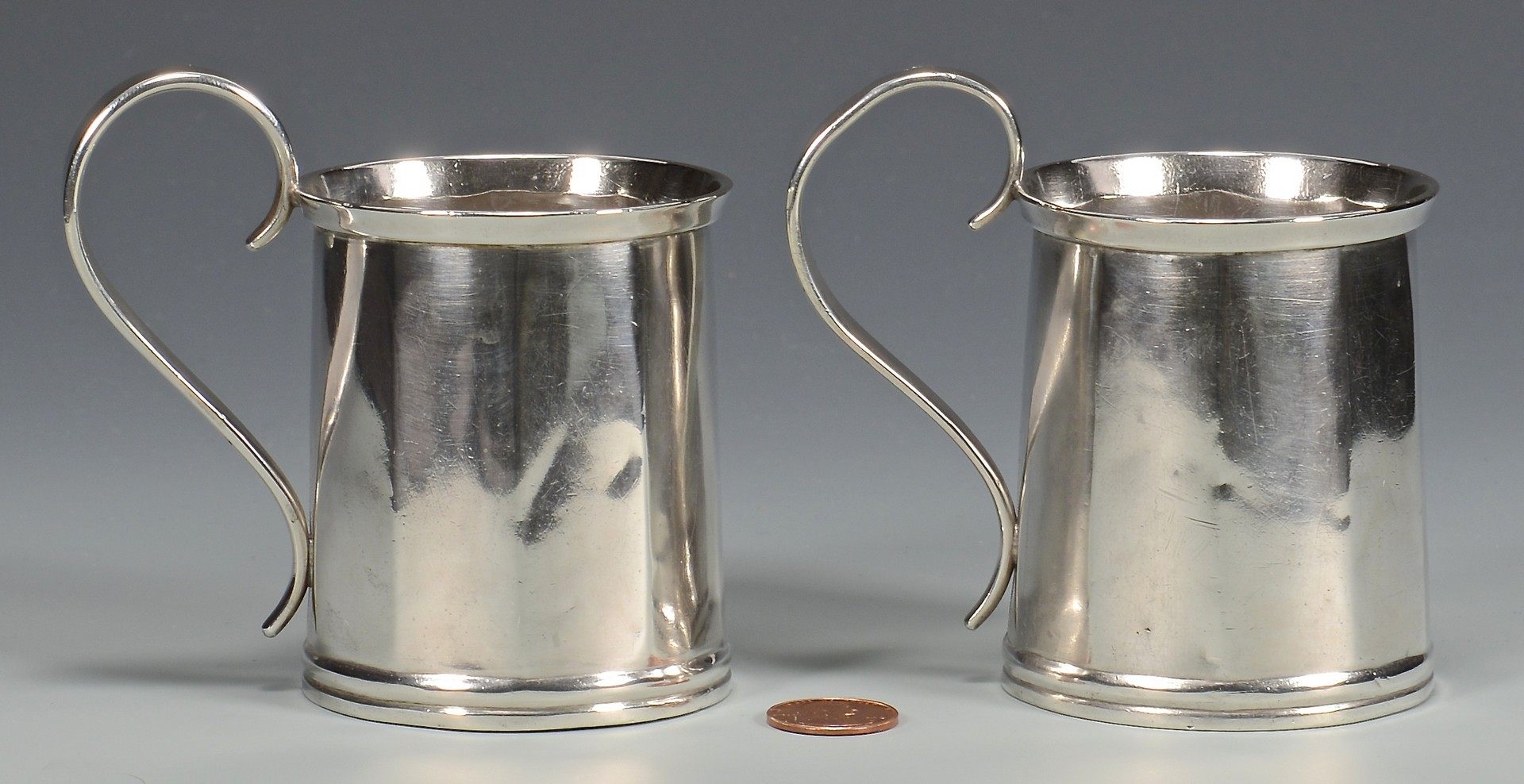 Lot 62: 2 Clark TN Coin Silver Cups