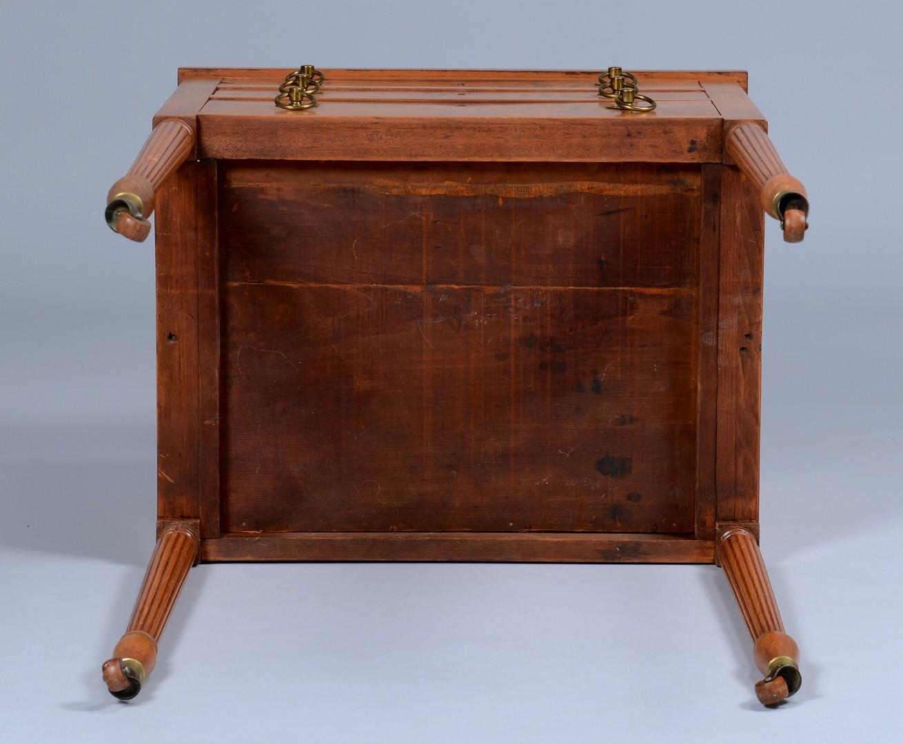 Lot 631: Sheraton Three-Drawer Work Table