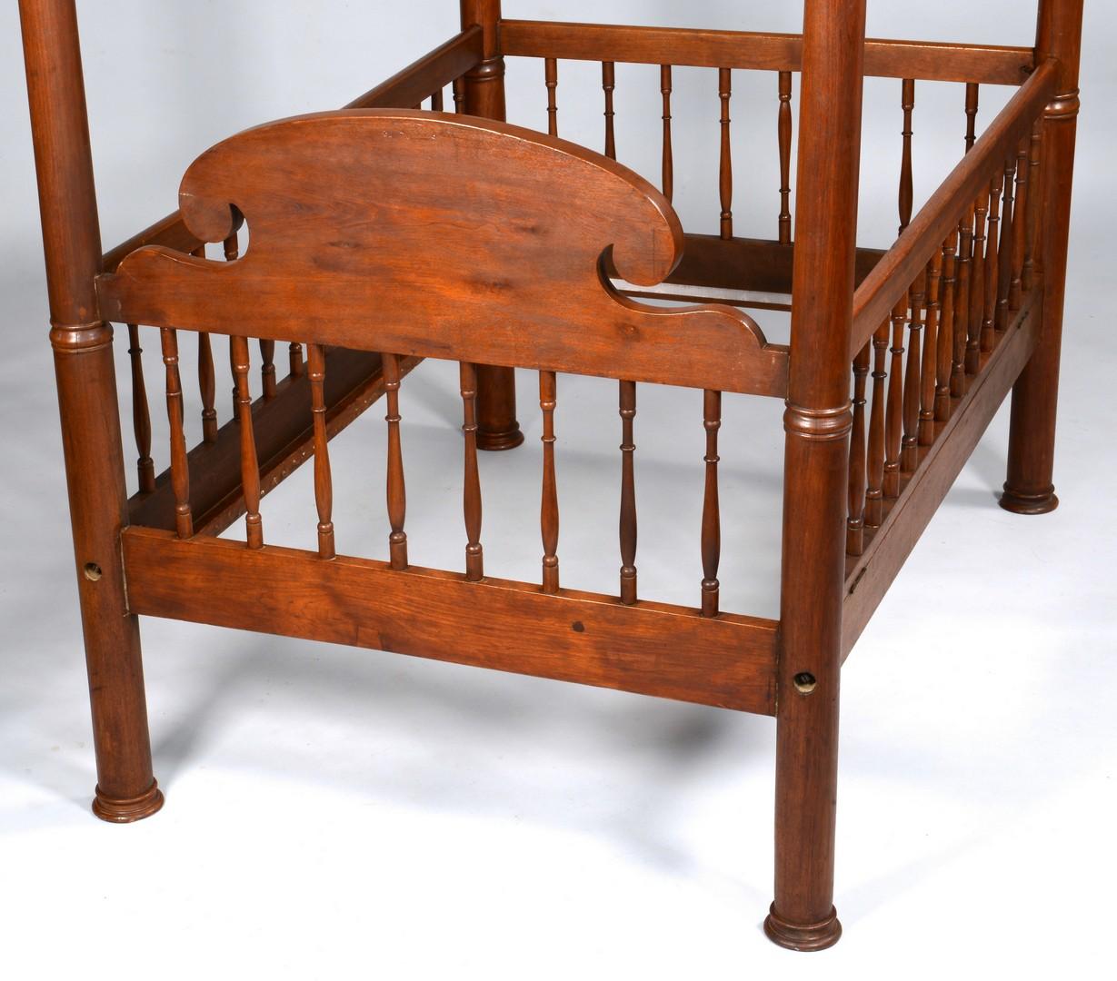 Lot 633: Renaissance Revival Child's Tester Bed