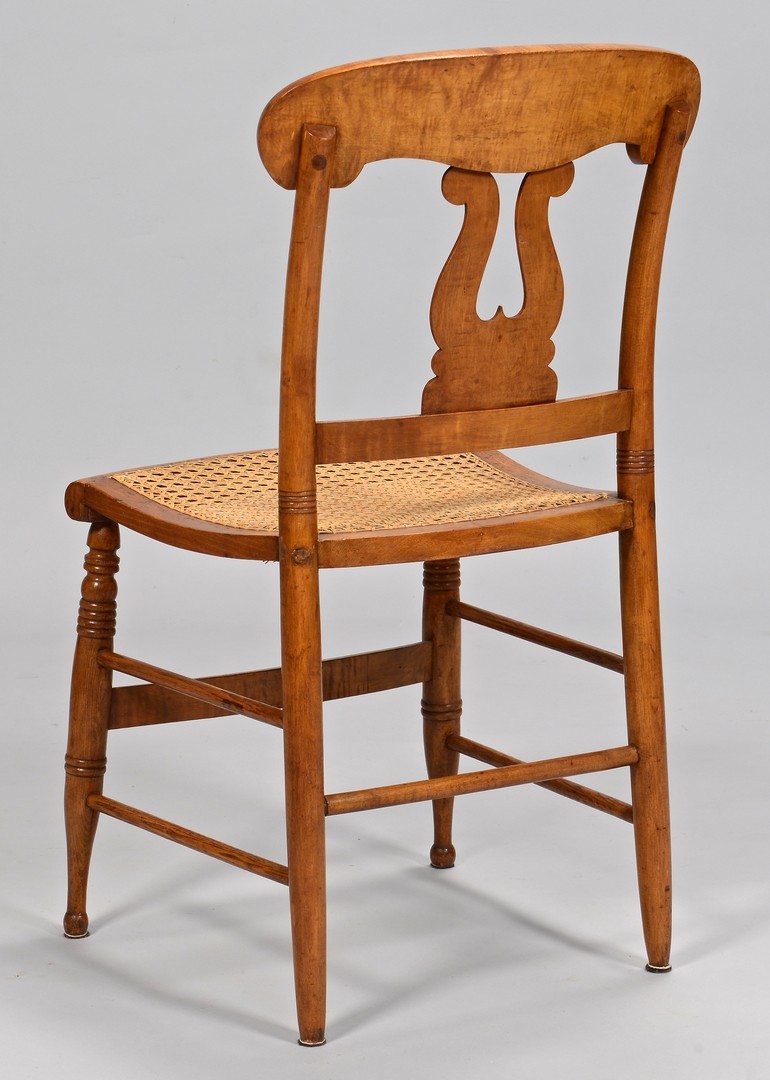 Lot 635: Set of 6 Sheraton Tiger Maple Chairs