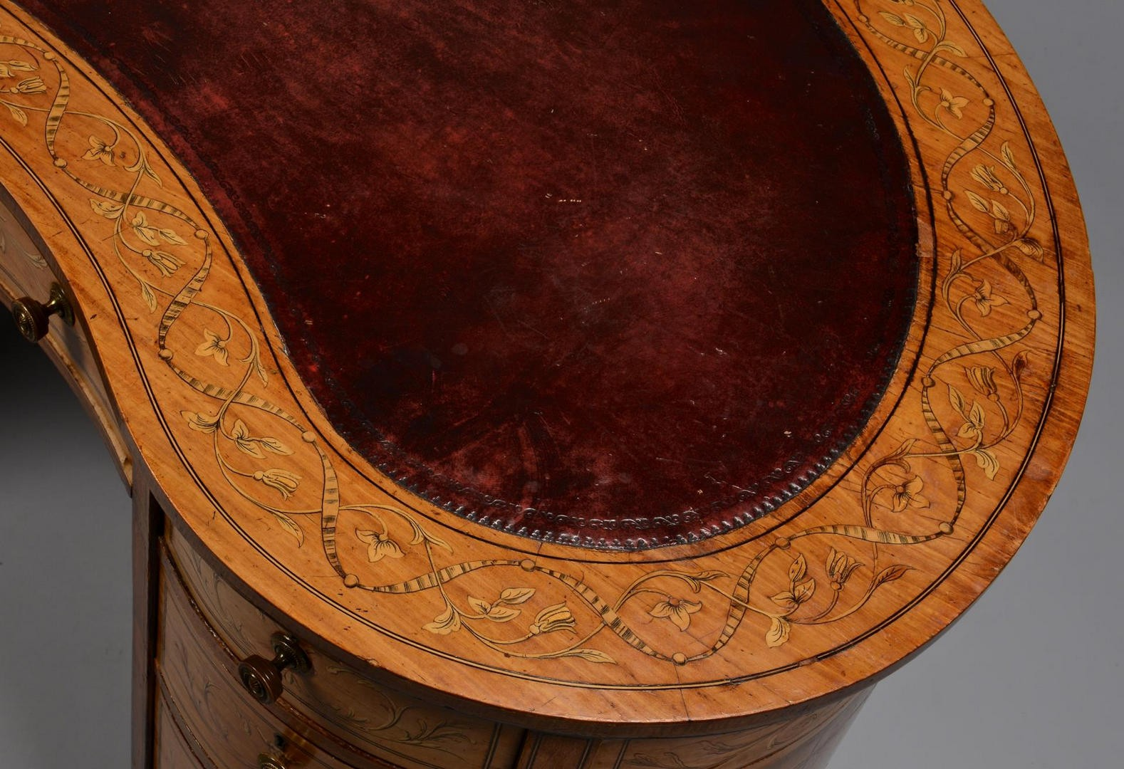 Lot 639: Adam Style Marquetry Desk