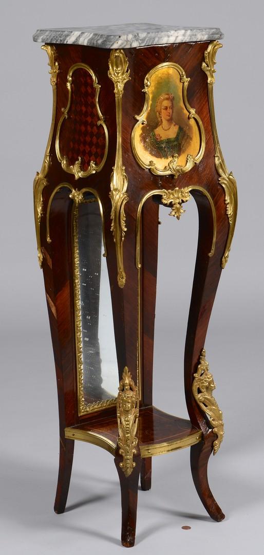 Lot 640: French Pedestal w/ Portrait & Marble Top