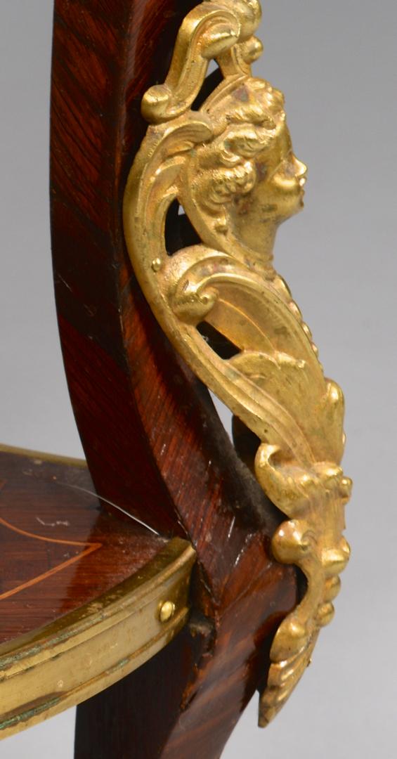 Lot 640 French Pedestal W Portrait Amp Marble Top